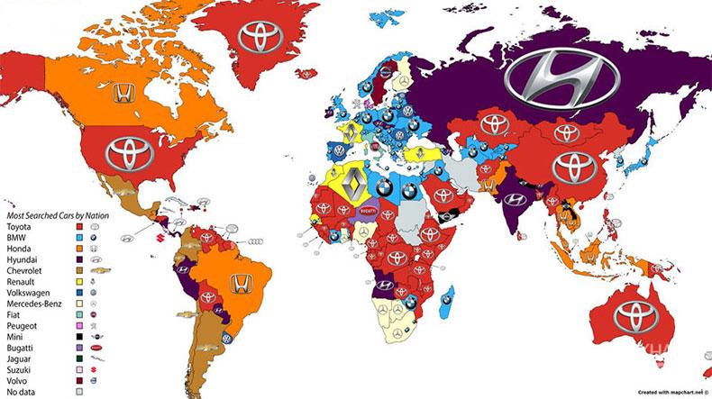آمار سرچ برندهای خودرو منتشر شد