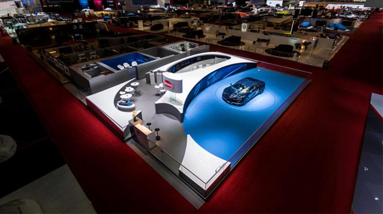بوگاتی، برگزیدهی زیباترین سالن در موتورشوی ژنو 2017