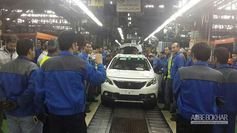 اولین پژو ۲۰۰۸ در کارخانه ایران خودرو تولید شد