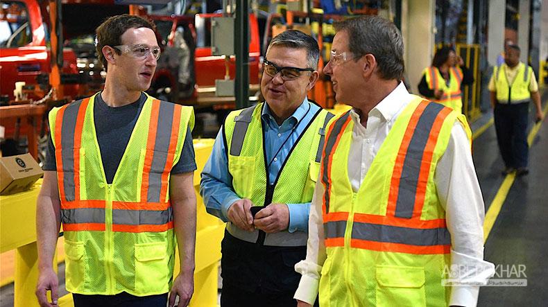 بازدید رئیس فیسبوک از خط تولید فورد F-150 در دیترویت