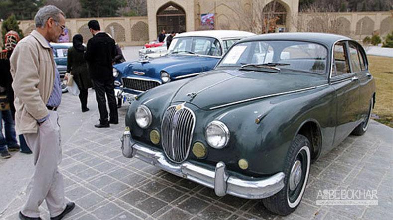 نمایشگاه خودروهای کلاسیک و مسابقهای در اصفهان
