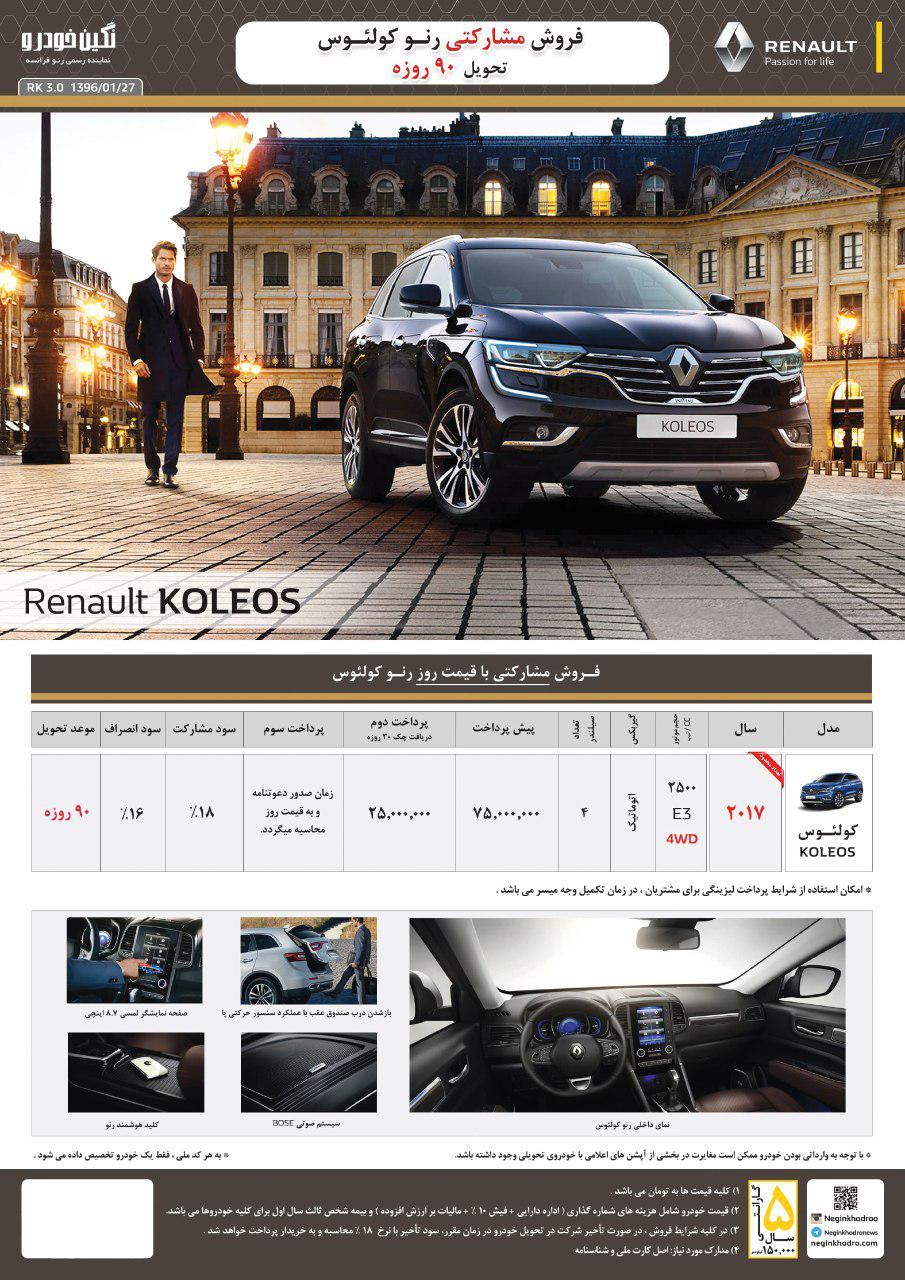 فروش نوبرانه های رنو در بهار توسط نگین خودرو