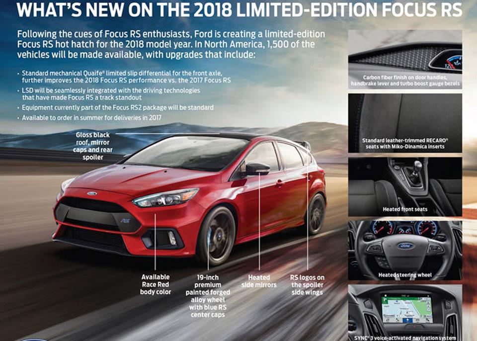 آخرین سری فورد فوکوس RS، سال 2018 عرضه می شود