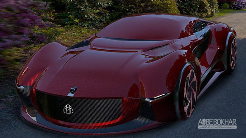 طرح خودروی مفهومی مرسدس میباخ ۲۰۳۰ با فضای داخلی چوبی