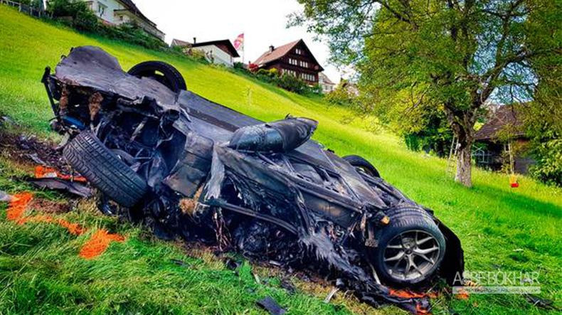 ریچارد هموند با چه خودرویی تصادف کرد؟