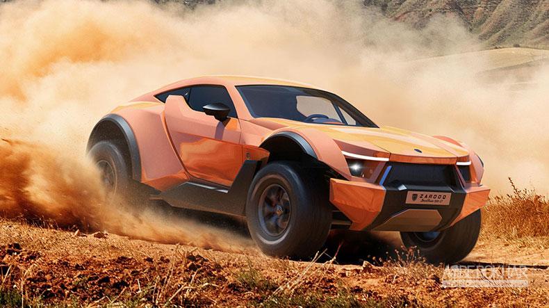 ترکیب یک شاسی بلند و ابر خودرو برای ساخت شن نورد 518 اسب بخاری