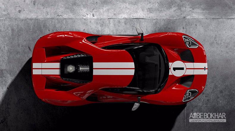 مدل ۲۰۱۸ فورد GT  با الهام از GT40 مدل ۱۹۶۷