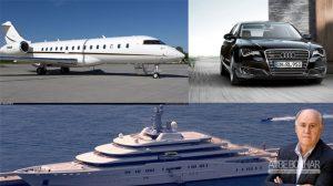 خودروهای زمینی، هوایی و دریایی یکی از سه مرد ثروتمند جهان