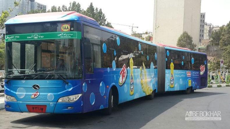 تبلیغات روی اتوبوسها برخلاف ضوابط تبلیغات و حقوق شهروندی است
