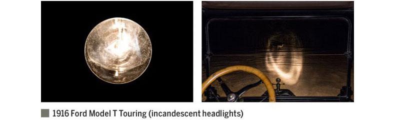 سیر تحول چراغ های جلو،از ۱۹۱۶ تا به حال