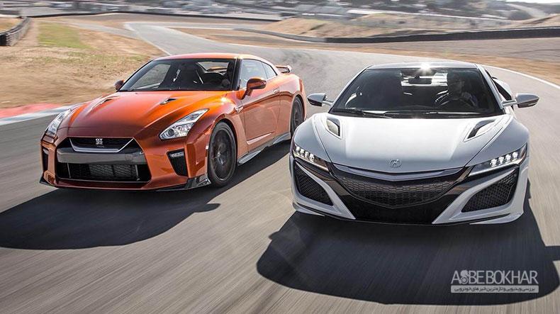 درگ دیدنی نیسان GT-R با آکورا NSX + ویدیو