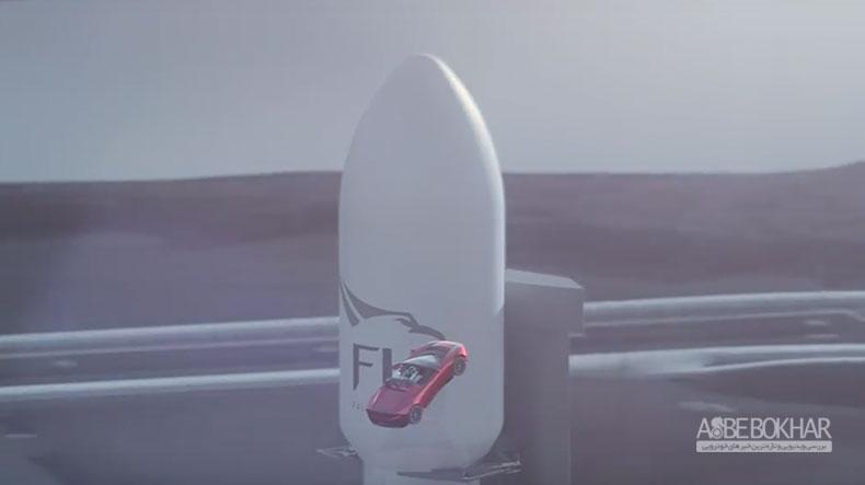 موشک فالکون هوی پرتاب شد و خودروی ایلان ماسک به فضا رسید + ویدیو