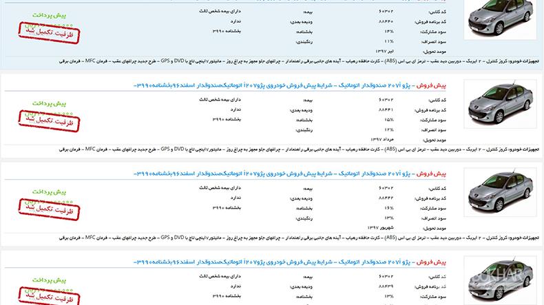 پیش فروش 207 صندوقدار چند ساعته تمام شد