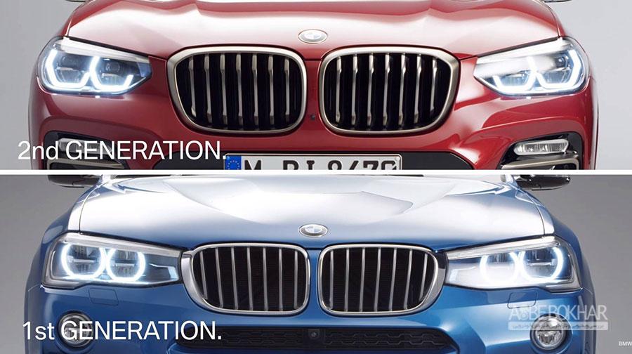 تکامل طراحی در بی ام و X4