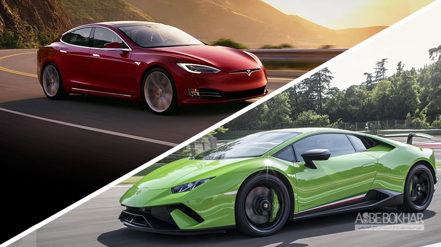 رقابت دیدنی تسلا مدل S و لامبورگینی پرفورمانته