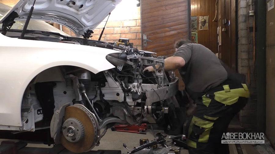 تعمیر بدنه و بازسازی کامل مرسدس بنز چگونه انجام میشود + ویدیو