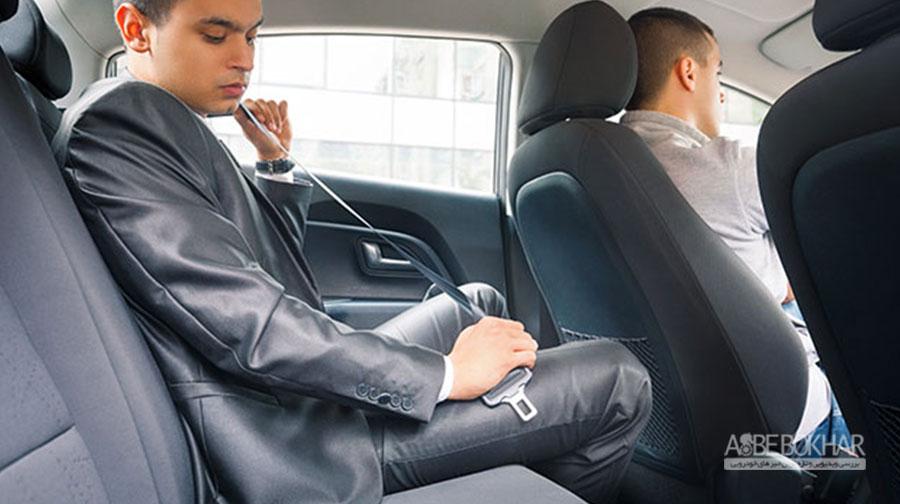 نبستن کمربند ایمنی سرنشینان عقب خودرو در جاده جریمه دارد