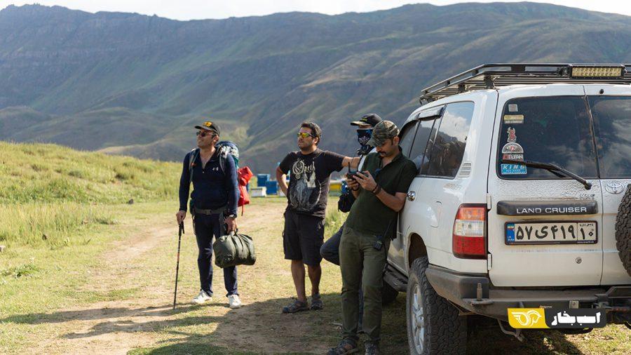 پشت صحنه ویدیوی تست و بررسی یواز پاتریوت و پیکاپ در قسمت ارتفاع پست اسب بخار